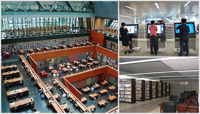 合肥图书馆触摸查询一体机案例|图书馆用的触摸一体机引用价值何在?